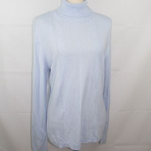Karen Scott Turtleneck Sweaters Size S M L XL Blue